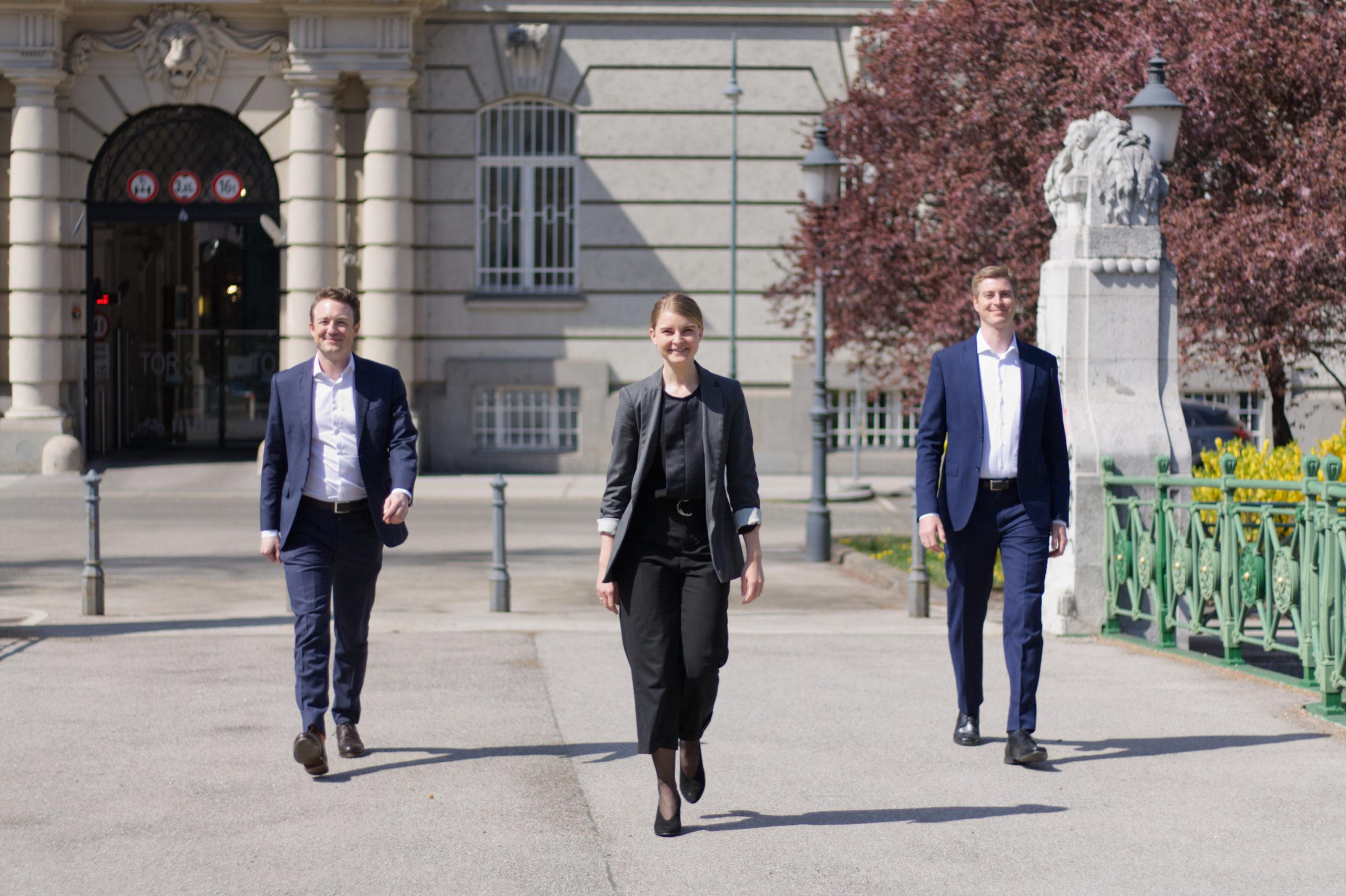 v.l.n.r. Sebastian Feuchtmüller, Sophie Reiter-Werzin, Karlheinz Moick
